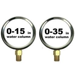 Pressure Gauges Gas Pressure (In Wc)