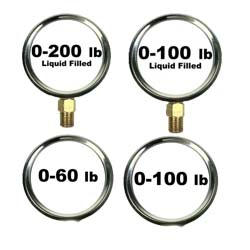 Pressure Gauges 2 1/2 Inch Dial
